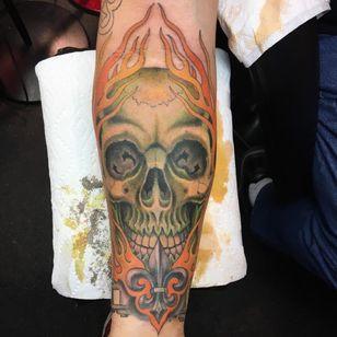 Skull by Josh Chapman (Via IG - chappy_stl) #daredevil #flash #traditional