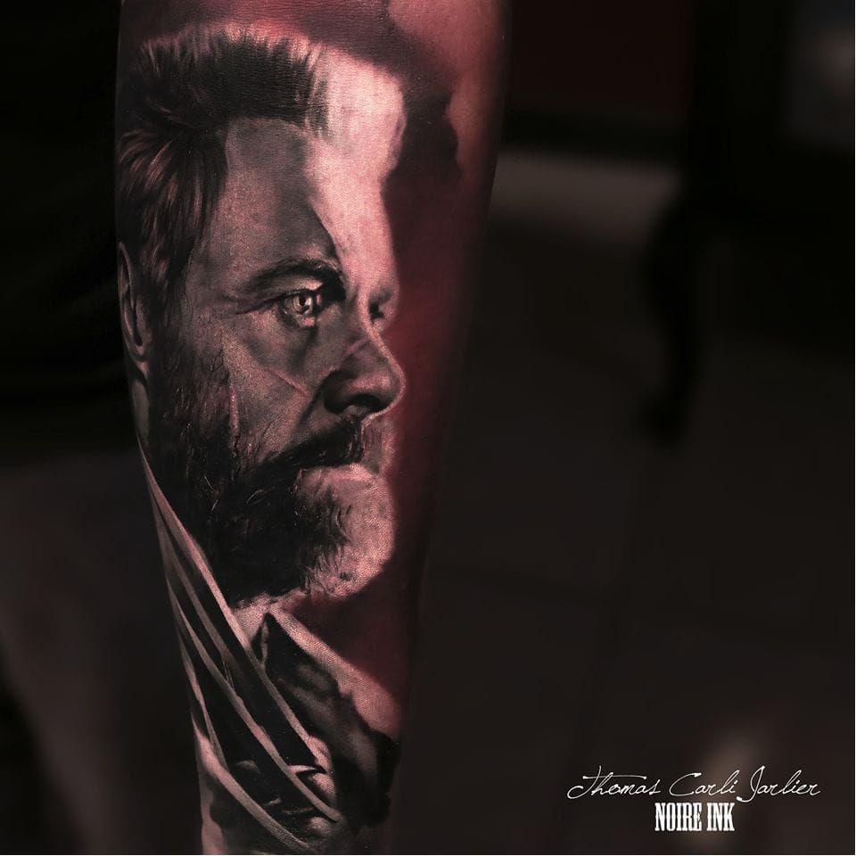 Velho Logan #ThomasCarliJarlier #realismo #realism #portrait #retrato #fotorrealismo #blackandgrey #pretoecinza #photorealism #logan #wolverine #marvel #xmen #HughJackman #nerd #geek #comic #hq #movie #filme #abstrato #abstract