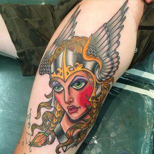 Valkyrie Tattoo by Jesse Mitchell #ValkyrieTattoo #Valkyrie #NorseMythology #NorseTattoos #NordicTattoo #JesseMitchell