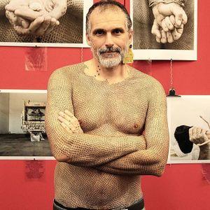 Alfredo Meschi made wears his beliefs on his skin #vegan #veganink #animals #veganism #political #AlfredoMeschi