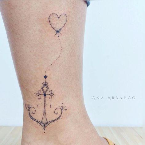 Ancorinha linda! #ancora #anchor #AnaAbrahão #fineline #traçofino #delicadas #delcates #fofas #cute #TatuadorasDoBrasil #presuntinhas