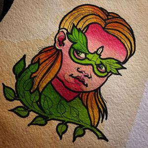 Baby Poison Ivy (via IG—wontutattoo) by Wontutattoo #poisonivy #baby #superhero #supervillian #flashart #wontutattoo