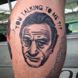 Robert De Niro Tattoo by Boryslav Dementiev #robertdeniro #traditional #traditionalportrait #popculture #popcultureportrait #popart #BoryslavDementiev