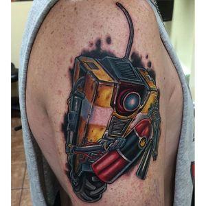 Claptrap Tattoo by Marc Durrant #Borderlands #Gaming #gamingtattoos #MarcDurrant
