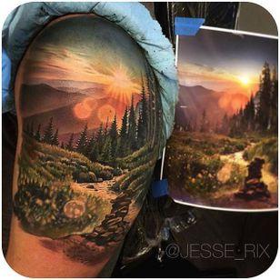 Unbelievably realistic landscape piece via @jesse_rix #JesseRix #realistic #landscape