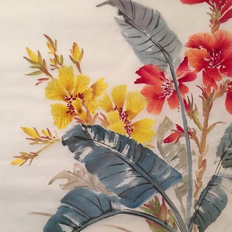 Painting by Nikole Lowe #nikolelowe #painting #flowers