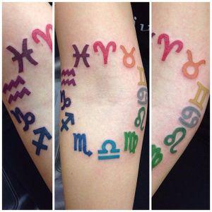 Zodiac signs by Alex #zodiac #zodiactattoo