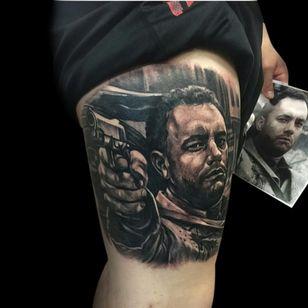 Tom Hanks and his gun by Fernie Andrade. #Fernie Andrade #savingprivateryan #tomhanks #tomhankstattoo