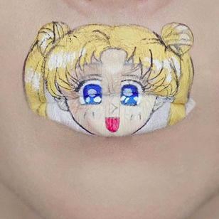 Sailor Moon Lip Art by @Ryankellymua #Lipart #Makeupart #Makeup #Ryankellymua #Sailormoon