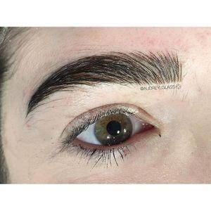 Eyebrow tattoo by Audrey Glass. #AudreyGlass #eyebrow #cosmetic #beauty