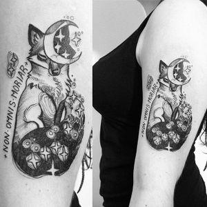 Fox tattoo by Fukari. #Fuki #Fukari #JudytaAnnaMurawska #fox