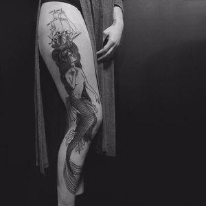 #DanielGriza #Mermaid #Sereia #blackwork #tatuadoresbrasileiros #tatuadoresbr