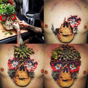 Jamie Schene shows his process from start to finish. (Via IG - jamie_schene) #JamieSchene #colorrealism #skull