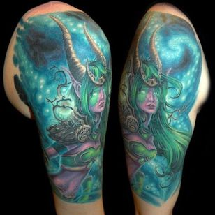 Conhece o artista que fez essa tatuagem? Conte pra gente nos comentários! #Warcraft #WoW #colorful