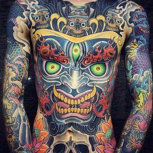Mahakala Tattoo, artist unknown #mahakala #mahakalatattoo #mahakalatattoos #kali #hindu #hindutattoo #deity #deitytattoo