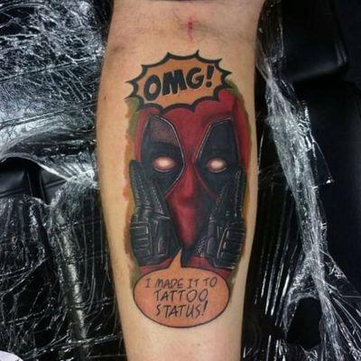 Hilarious meta Deadpool tattoo #deadpool #tattoostatus