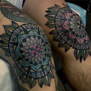 Geometric Tattoo by Mico @micotattoo #micotattoo #geometric #mandala #color