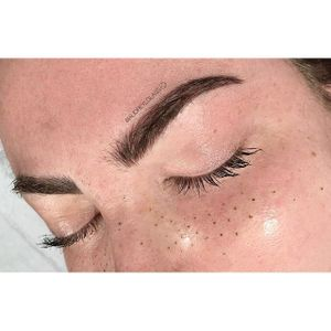Eyebrow and freckle tattoos by Audrey Glass. #AudreyGlass #eyebrow #cosmetic #beauty #freckles