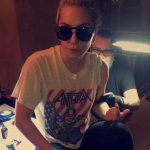Lady Gaga getting tattooed. #LadyGaga #Music #Celebrities #Haus