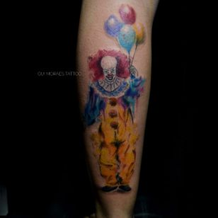 Por Guilherme Moraes #GuilhemeMoraes #brasil #brazil #brazilianartist #tatuadoresdobrasil #aquarela #watercolor #it #Pennywise #palhaço #clown #balao #baloon #acoisa #movie #filme #nerd #geek #book #livro