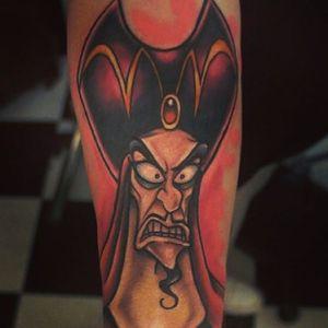 Jafar Tattoo by Chris Hatch #DisneyVillain #Disney #Aladdin #ChrisHatch