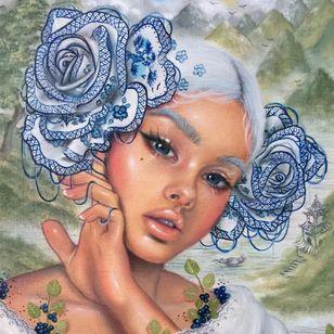 """""""Mei"""" via @relmxx #Relm #ARTSHARE #painting #fineartist"""