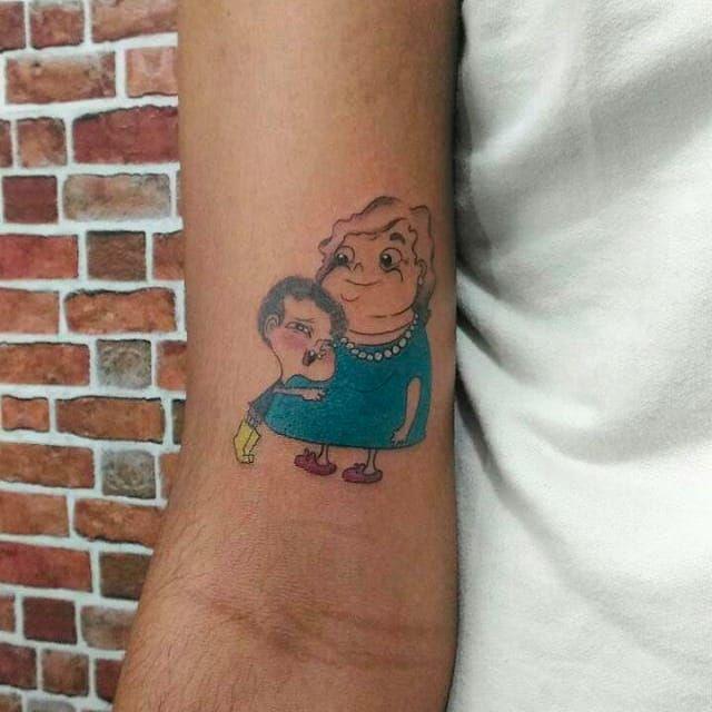 Irmão do Jorel e vovó Juju por Gabriela Utsch! #GabrielaUtsch #Tatuadorasbrasileiras #cartoonnetwork #cartoon #nerd #geek #cartoon #irmãodojorel #julianoenrico #vovójuju #grandma #avó