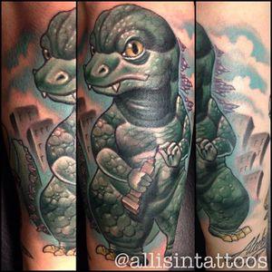 Chibi Godzilla by Allisin. #newschool #chibi #Godzilla #Allisin