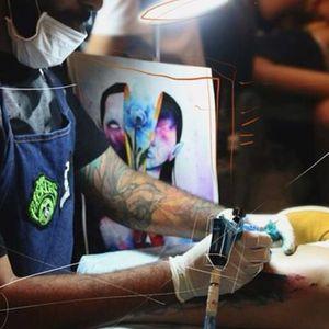 Tattooist Paulo Victor Skaz at work (via IG—skazxim) #watercolor #freeform #animal #creature #PauloVictorSkaz #colorful