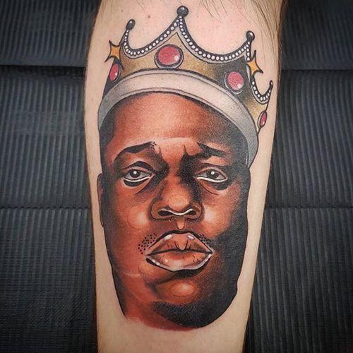 The King of New York. (via IG - callumpoll) #BiggieSmalls #NotoriousBIG #NYC #Rap