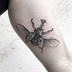 #JCTavares #brasil #brazil #brazilianartist #tatuadoresdobrasil #blackwork #pontilhismo #dotwork #sketch #inseto #bug #besouro #beetle