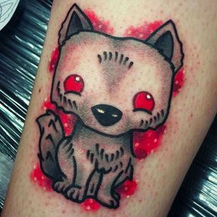 Ghost the Direwolf Tattoo by Joe Fletcher @Wagabalooza #Wagabalooza #JoeFletcher #JoeFletcherTattoo #Neotraditional #Neotraditionaltattoo #HellcatsTattooParlour #UK #Ghost #Direwolf #HouseStark #Gameofthrones #Gameofthronestattoo