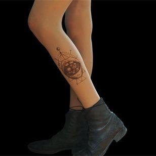 Mouth by TATUL (via etsy.com) #tattooedtights #painted #art #fashion #TATUL #temporarytattoos #tights #stockings