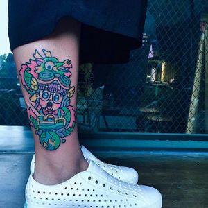 Arale Norimaki tattoo by Pikkapimingchen. #Pikkapimingchen #anime #dragonballz #arale #aralenorimaki #kawaii #cute #littlegirl #cartoon #style #drslump
