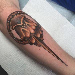 Hand of the King tattoo by Jeremy Lamos. #gameofthrones #GOT #tvshow #handoftheking