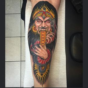 Rangda witch #witchtattoo #neotraditionaltattoos #Yonmar
