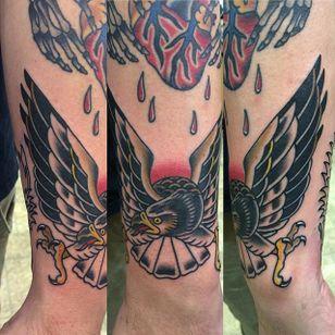 Traditional Hawk Design by Brian Hemming #Hawk #TraditionalHawk #BirdTattoo #TraditionalBird #BrianHemming