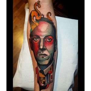 Colorful tattoo by Nik the Rookie #hplovecraft #NiktheRookie #graphic #literature