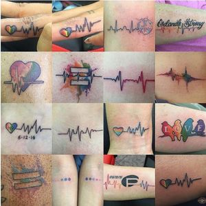 Pulse Tribute tattoos #pulse #onelove #lgbt #orlandostrong