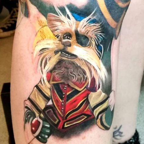 A color portrait of Sir Didymus from Labyrinth by Madame Fink (IG—madamefink). #color #Labyrinth #MadameFink #portraiture #realism #SirDidymus