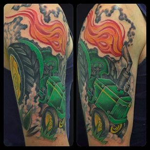 John Deere tractor by Nailz (via IG -- nailz) #nailz