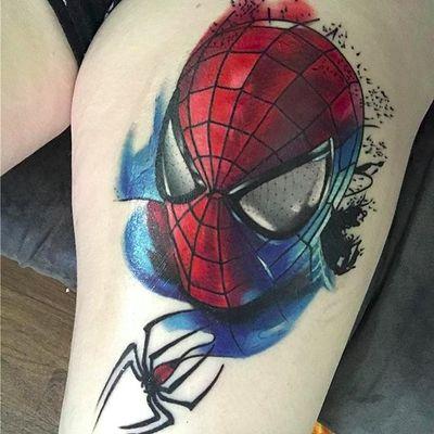 Spider-Man (via IG -- mcmaymie) #spiderman #spidermantattoo