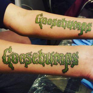 Classic logo. (via IG - darlene.conner.69) #Goosebumps #GoosebumpsTattoo #RLStine