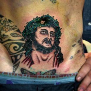 Jesus Tattoo by Joe Tartarotti #jesus #traditional #traditionalartist #oldschool #vinatge #classic #Italianartist #JoeTartarotti