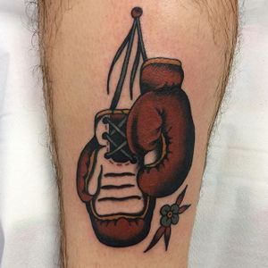 Boxing Gloves Tattoo by Chris Collins #boxinggloves #boxing #sport #ChrisCollins
