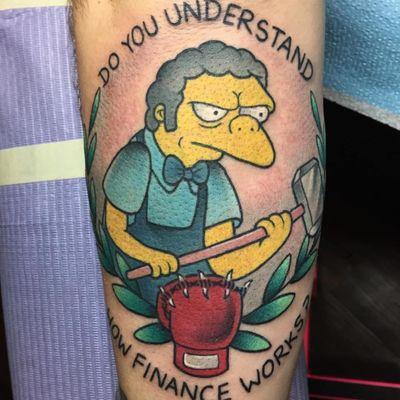 Springfield's favorite bartender by Alex Strangler. (Via IG - alexstrangler) #moe #MoeSzyslak #thesimpsons