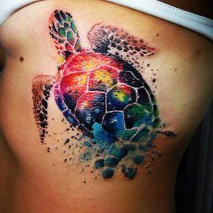 #GuinhoTattoo #Brasil #Brazil #brazilianartist #tatuadoresdobrasil #turtle #tartaruga #watercolor #aquarela
