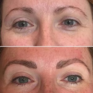 Permanent eyeliner and brows by Amy Kernahan (via IG-amykernahan) #permanentmakeup #eyeliner #cosmetictattoo #micropigmentation #AmyKernahan