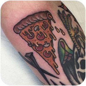 Dedication @jeanleroux #tattoodo #pizza #color #jeanleroux