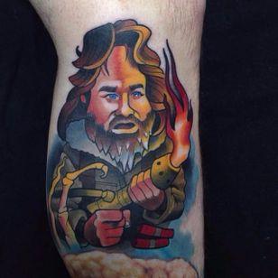 Kurt Russell Tattoo by Marty McEwen #thething #kurtrussell #kurtrussellportrait #kurtrussellmovie #movie #film #actor #MartyMcEwen